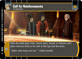 Call for Reinforcements