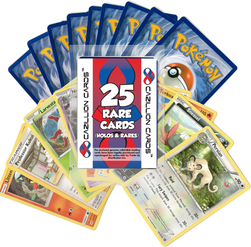 Pokemon Cards Assorted 25 Rare Card Lot