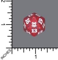 Spindown Dice (D-20) - Zendikar Rising (Red)