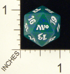 Spindown Dice (D-20) - Magic 2010 (M10) - Green