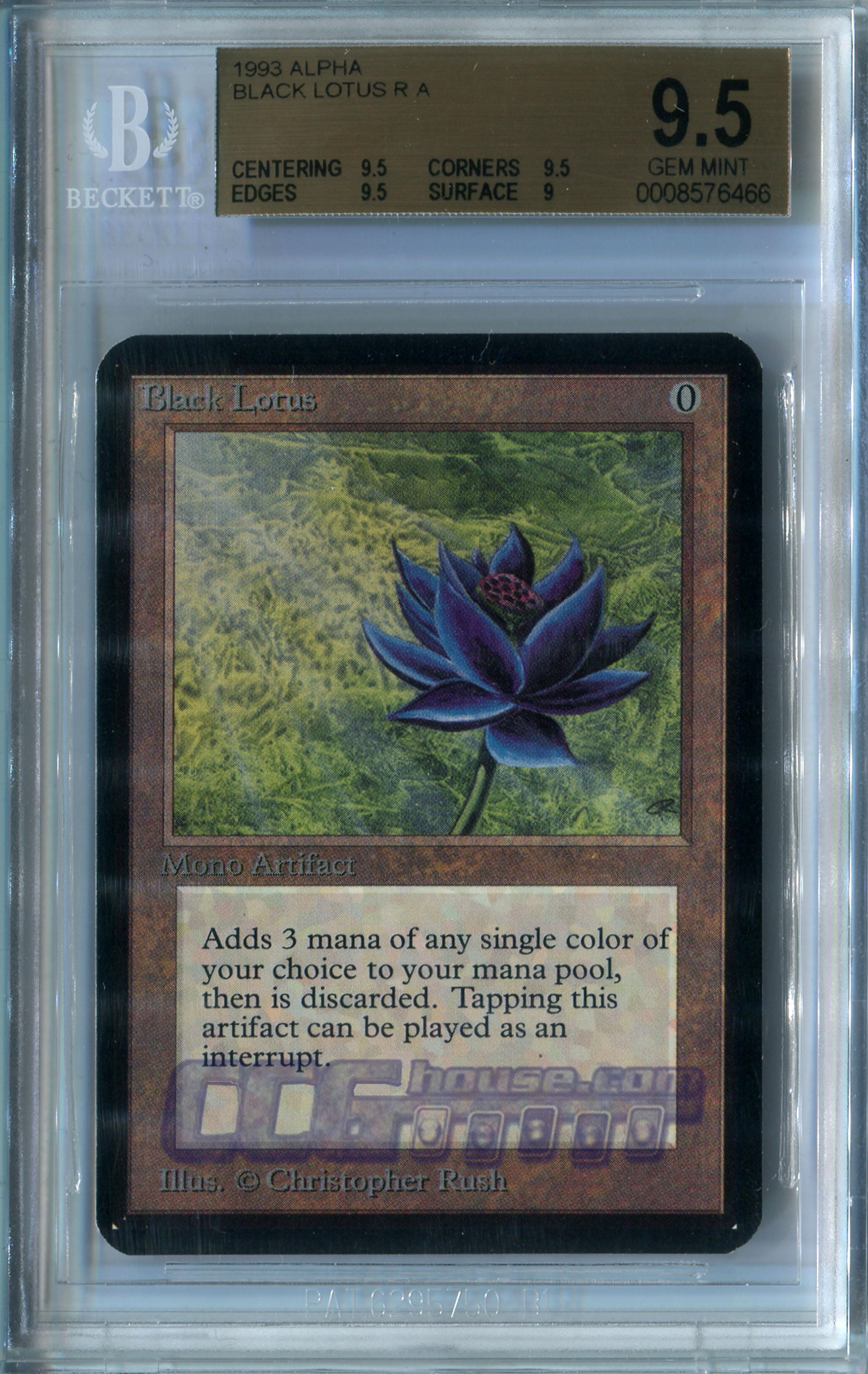 Black Lotus Alpha Bgs Gem Mint 95 X1 Graded Cards Mtg Nm