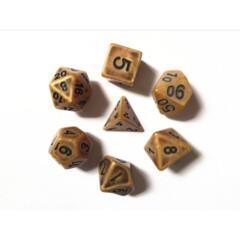Gold Ancient 7 Die Dice Set (B13)