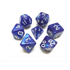 Blue Pearl 7 Die Dice Set (D23)