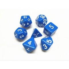 Blue Opaque 7 Die Dice Set (D16)