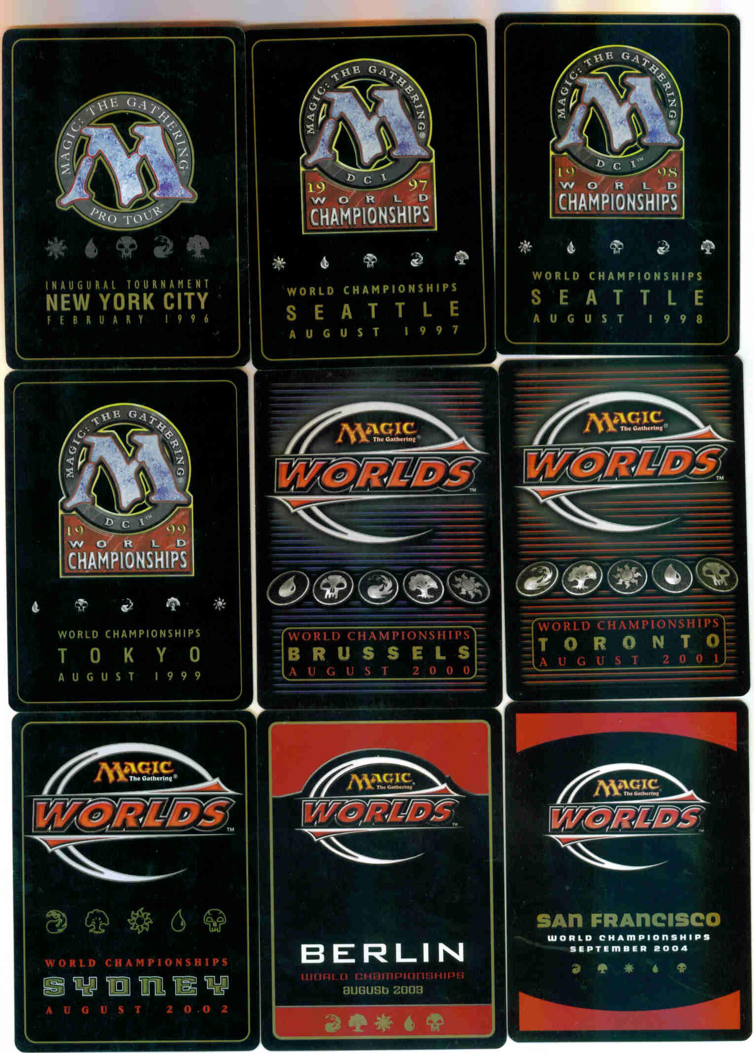 1996 World Championship Blank Card
