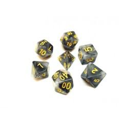 Black Jade 7 Die Dice Set (B37)