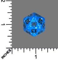 Spindown Dice (D-20) - Guilds of Ravnica - Dimir (Blue/Black)