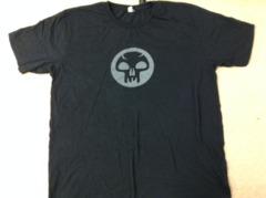 MTG Black Mana Symbol Tshirt - Large