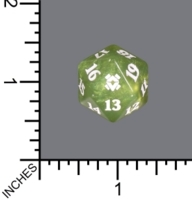 Spindown Dice (D-20) - Zendikar Rising (Light Green Pearl)