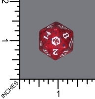 Randomized Non Spindown Dice (D-20) - Adventures in the Forgotten Realms (Red)