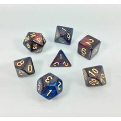Red Blue 7 Die Dice Set (B36)