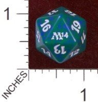 Spindown Dice (D-20) - Magic 2014 (M14) - Green