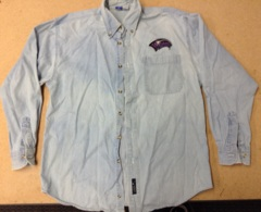 WOTC Long Sleeve Denim Employee Shirt - Medium