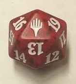 Spindown Dice (D-20) - Planeswalker Red (Duel Decks)