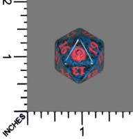 Spindown Dice (D-20) - Guilds of Ravnica - Izzet (Blue/Red)
