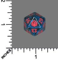 Spindown Dice (D-20) - Guilds of Ravnica - Izzet (Blue/Red)