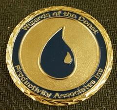 Commemorative Coin - WotC Employee Rewards (Blue Mana)
