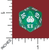 Spindown Dice (D-20) - Aether Revolt (Green)