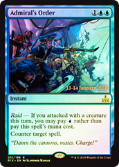 Admiral's Order (Rivals of Ixalan Prerelease Foil)