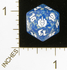 Spindown Dice (D-20) - Mirrodin Besieged (Blue)