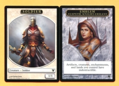 Emblem - Elspeth, Knight-Errant // Soldier Token