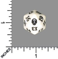Spindown Dice (D-20) - Dominaria (White)