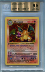 Charizard (Base Set 1st Ed Shadowless) - BGS GEM MINT 9.5