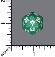 Spindown Dice (D-20) - Throne of Eldraine (Green)