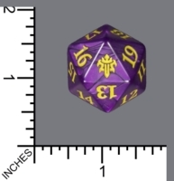Spindown Dice (D-20) - Throne of Eldraine (JUMBO Purple w/Gold)