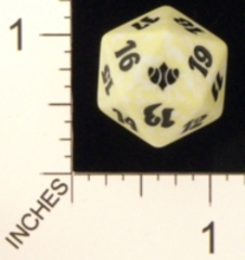 Spindown Dice (D-20) - Conflux (White)