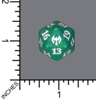 Spindown Dice (D-20) - Kaldheim (Green)