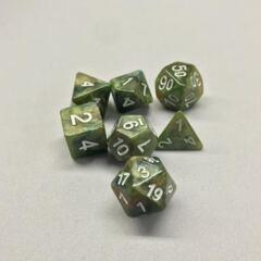 Green Marbles 7 Die Dice Set (A16)