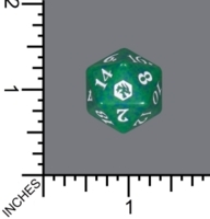 Randomized Non Spindown Dice (D-20) - Adventures in the Forgotten Realms (Green)