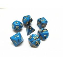 Blue Black Pearl 7 Die Dice Set (C7)