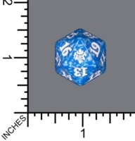 Spindown Dice (D-20) - Throne of Eldraine (Blue)