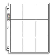 9 Pocket Binder Pages