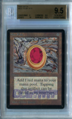 Mox Ruby (Beta) - BGS GEM MINT 9.5 (w/10 sub)