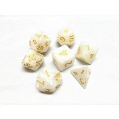 White Pearl 7 Die Dice Set (D22)