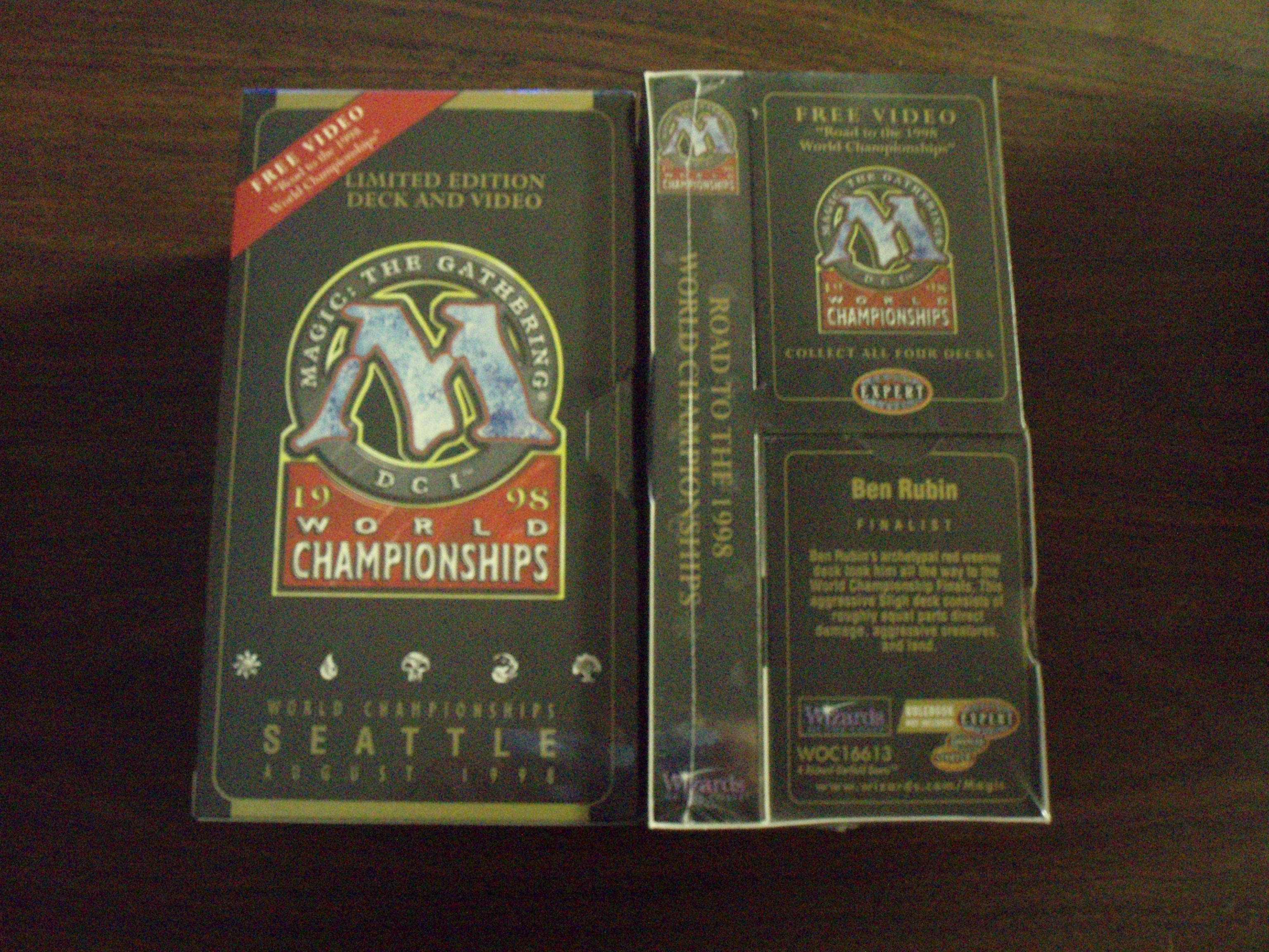 1998 Ben Rubin World Champ Deck w/VHS