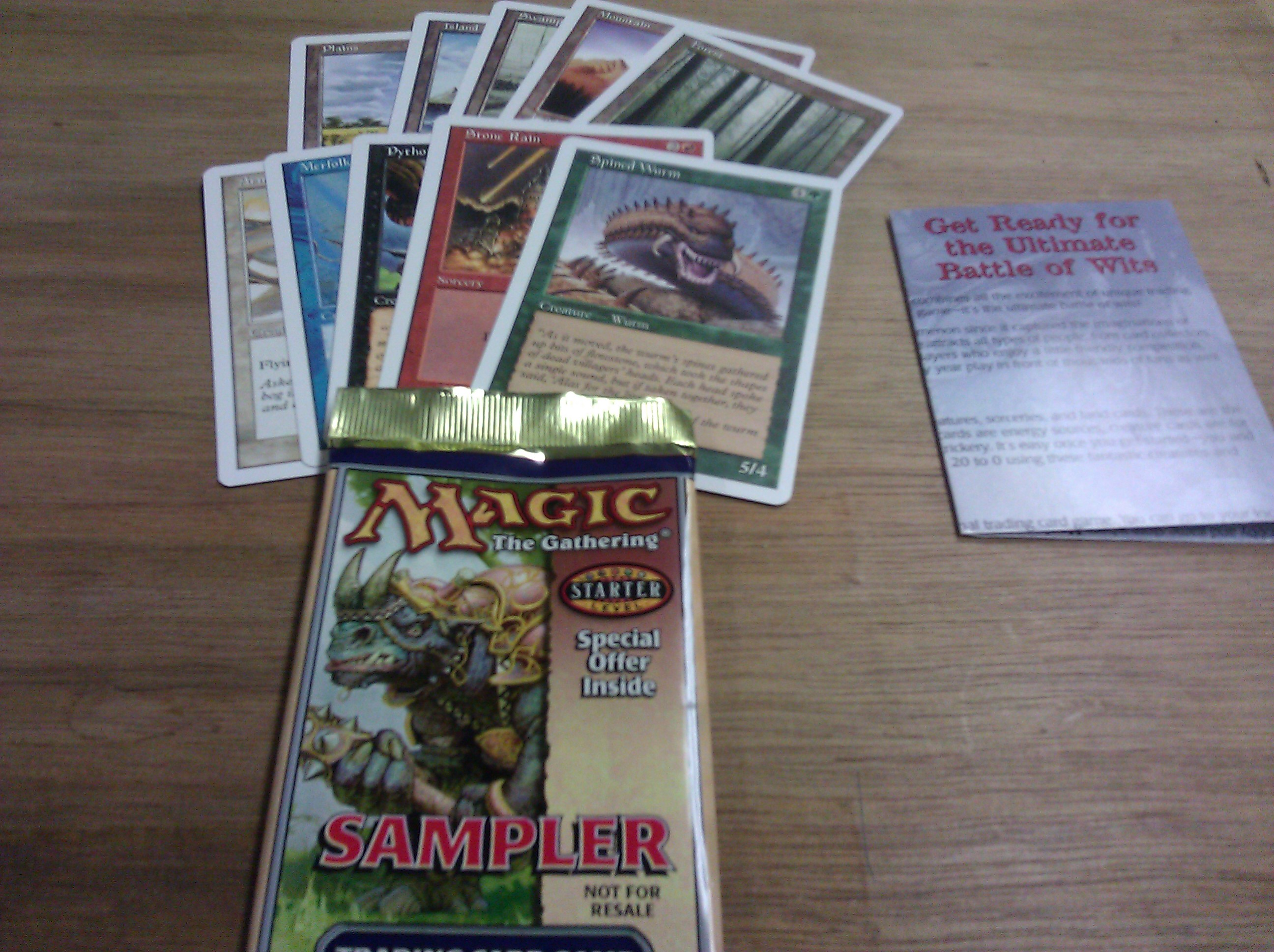 Starter Sampler Booster Pack (w/ Exclusive Promo Spined Wurm)
