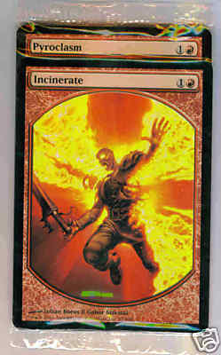 Textless Set of 2 - Pyroclasm/Incinerate (Sealed)