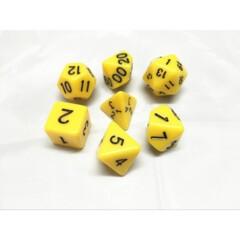 Yellow Opaque 7 Die Dice Set (D10)