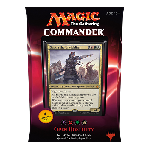 Commander 2016: Open Hostility (Black/Red/Green/White)