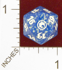 Spindown Dice (D-20) - Scars of Mirrodin (Blue)