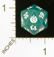 Spindown Dice (D-20) - Mirrodin Besieged (Green)