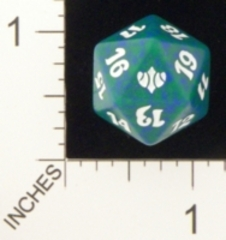 Spindown Dice (D-20) - Conflux (Green)