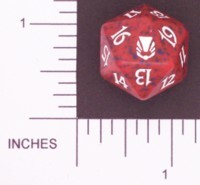 Spindown Dice (D-20) - Darksteel (Red)