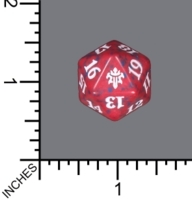 Spindown Dice (D-20) - Throne of Eldraine (Red)