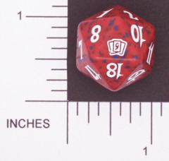 Spindown Dice (D-20) - 9th Edition (Red)