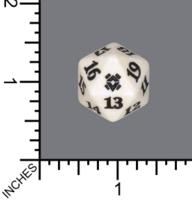 Spindown Dice (D-20) - Zendikar Rising (White)